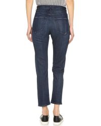 3x1 | Blue W$ High Rise Crop Boyfriend Jeans | Lyst