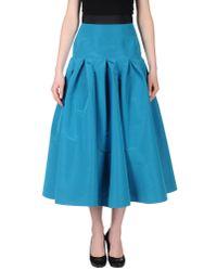 Katie Ermilio - Blue 34 Length Skirt - Lyst