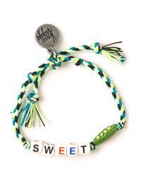Venessa Arizaga - Green Sweet Pea Bracelet - Lyst