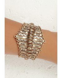Forever 21 | Metallic Tribal-inspired Bar Bracelet | Lyst
