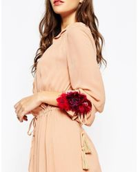 ASOS - Red Winter Multiway Hair & Body Corsage - Lyst