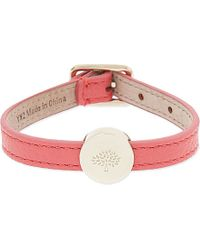 Mulberry | Tree Bead Leather Bracelet, Women's, Peony Pink | Lyst