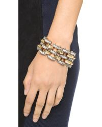 Lulu Frost - Metallic Veratrum Bracelet - Clear/gold - Lyst