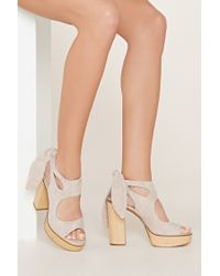 Forever 21 | Natural Very Volatile Rissa Sandals | Lyst