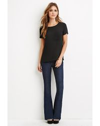 Forever 21 - Black Pocket Chiffon Top - Lyst