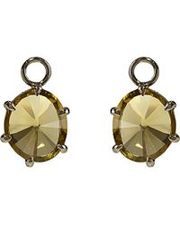 Annoushka | Green 18ct White-gold And Olive Quartz Earring Drops | Lyst