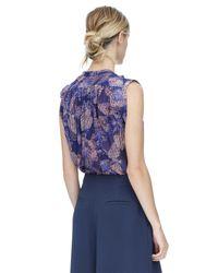 Rebecca Taylor | Purple Sonic Garden Sleeveless Silk Top | Lyst
