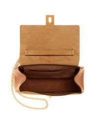 Chloé - Natural Drew Leather and Suede Shoulder Bag - Lyst