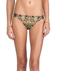 Nanette Lepore - Brown Moroccan Medallion Charmer Bikini Bottoms in Black - Lyst