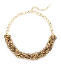 Saks Fifth Avenue | Metallic Beaded Braid Collar Necklace | Lyst