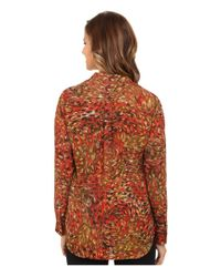 Kut From The Kloth - Multicolor 'jasmine' Floral Print Roll Sleeve Blouse - Lyst