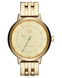 Armani Exchange | Metallic Crystal Marker Bracelet Watch | Lyst