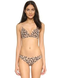 Stella McCartney | Pink Stella Smooth Print Soft Cup Bra - Flesh/black Leopard Print | Lyst