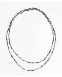 Gurhan - Metallic Silver And Gold 'wheat' Long Necklace - Lyst