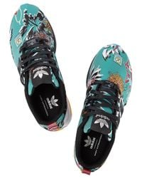 Mary Katrantzou - Blue Zx Flux Tropical Jacquard Trainers - Lyst