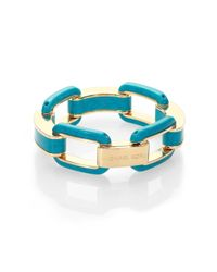 Michael Kors | Blue Tortoiseprint Link Bracelet | Lyst