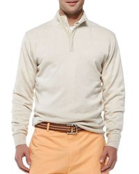 Peter Millar - Natural Quarterzip Pullover Cream for Men - Lyst