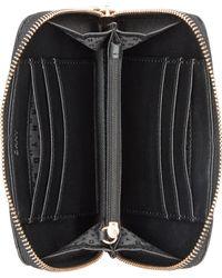 DKNY - Black Gansevoort Quilted Medium Zip Around Wallet - Lyst