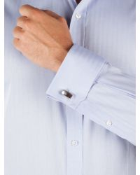 Alexandre Of England | Blue Herringbone Tailored Fit Long Sleeve Shirt for Men | Lyst
