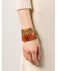 Ziio - Orange Incas Large Beaded Bracelet - Lyst