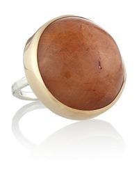 Melissa Joy Manning | Metallic 14-karat Gold And Sterling Silver Quartz Ring | Lyst