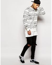 Cheats & Thieves - Black Chain Link Crew Sweatshirt for Men - Lyst