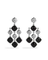 David Yurman - Black Sculpted Cable Chandelier Earrings - Lyst