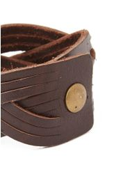 The Idle Man | Brown Leather Cuff for Men | Lyst