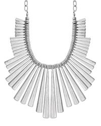 Lucky Brand | Metallic Sculpted Bib Necklace | Lyst
