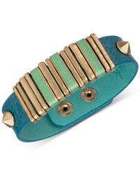 The Sak | Blue Leather Slider Accent And Stud Snap Bracelet | Lyst