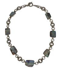Stephen Dweck - Metallic Silver Boulder Opal Necklace - Lyst
