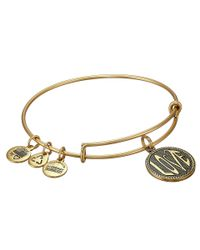 ALEX AND ANI | Metallic Open Love Charm Bangle Ii | Lyst