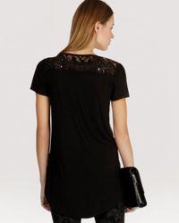 Karen Millen - Black Tee Lace Sequin - Lyst