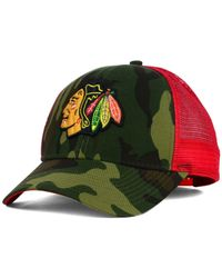 Reebok | Green Chicago Blackhawks Camo Trucker Cap for Men | Lyst