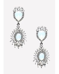 Bebe - Blue Opal Stone Flower Earrings - Lyst