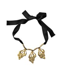 Marni - Black Leaves Necklace - Lyst