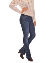 Mother | Blue The Runaway Skinny Flare Jeans in Flowers From The Storm | Lyst