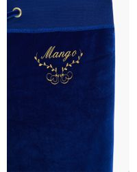 Mango - Blue Flowy Trousers - Lyst
