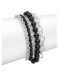 Slane - Black Onyx Sterling Silver Bracelet - Lyst