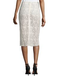 Nina Ricci - White Guipure-lace Pencil Skirt - Lyst