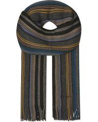 Paul Smith | Black Striped Wool Scarf for Men | Lyst