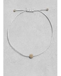 & Other Stories | Metallic Threaded Ball Bracelet | Lyst
