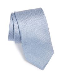 Michael Kors - Blue 'canvas Solid' Silk Tie for Men - Lyst