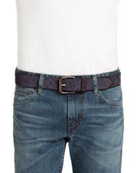 BOSS Orange | Blue Leather Belt 'jadeon' for Men | Lyst