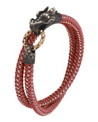 John Hardy - Red Naga Nylon Cord Wrap Bracelet for Men - Lyst