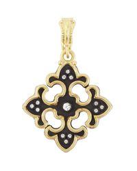 Armenta | Metallic Diamond & Sapphire Cross Enhancer | Lyst
