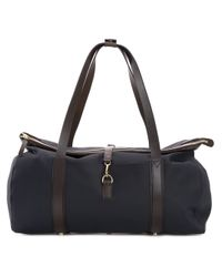 Mismo | Blue Leather Trim Holdall for Men | Lyst