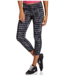 Nike | Gray Epic Run Dri-fit Print Cropped Leggings | Lyst