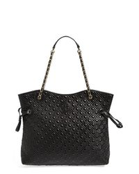 Tory Burch | Black 'marion' Quilted Slouchy Tote | Lyst