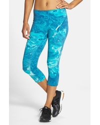 New Balance Blue 'premium Performance' Capris